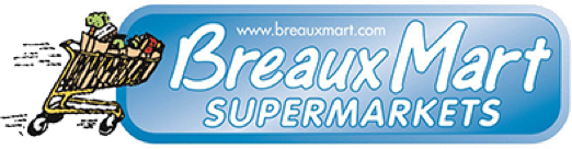 A theme logo of Breaux Mart